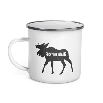 Rocky Mountain Moose - Enamel Mug