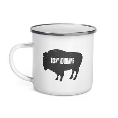 Rocky Mountain Bison - Enamel Mug