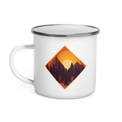 Mountain Sunset - Enamel Mug