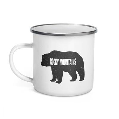 Rocky Mountain Bear - Enamel Mug