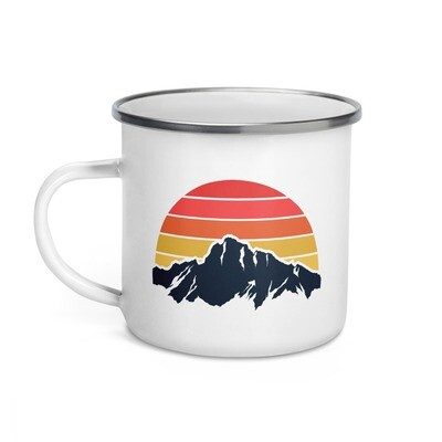 Mountain & Sunset - Enamel Mug