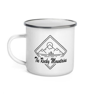 Rocky Mountains - Enamel Mug