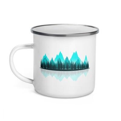 The Rockies Panoramic - Enamel Mug