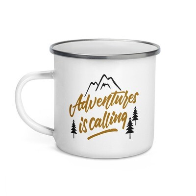 Adventure is Calling - Enamel Mug