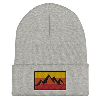 Mountain Sunset - Cuffed Beanie (Multi Colors)