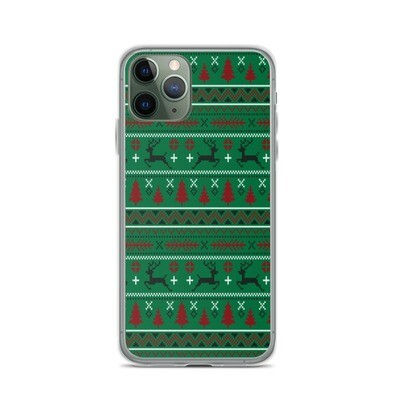Reindeer Ugly Sweater - iPhone Case