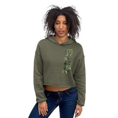 Camo Mountain Girl - Crop Hoodie