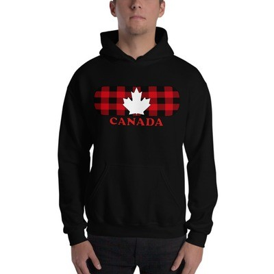 Plaid Canada Maple - Hooded Sweatshirt (Multi Colors) The Rockies Canadian Rocky Mountains