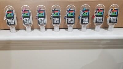EINC 50ml Hand Sanitizer W/ Colored Chains 8pcs