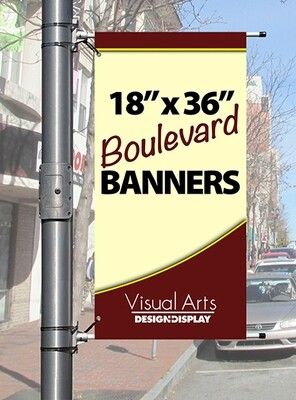 """18"""" x 36"""" Double-sided Boulevard Banner"""