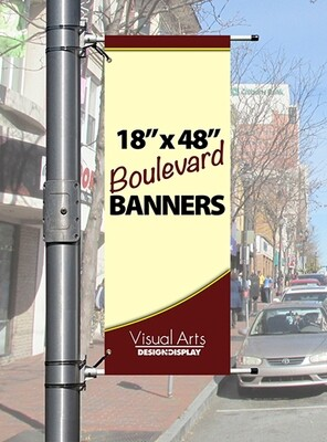 """18"""" x 48"""" Double-sided Boulevard Banner"""