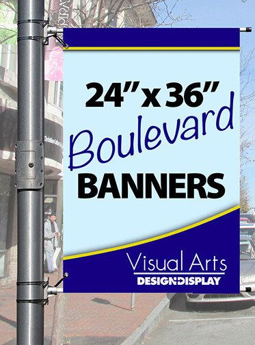 """24"""" x 36"""" Double-sided Boulevard Banner"""