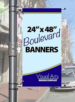 """24"""" x 48"""" Double-sided Boulevard Banner"""