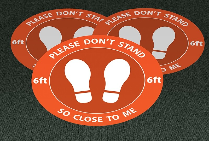 Physical Distance Dots for Indoors (Set of 3)