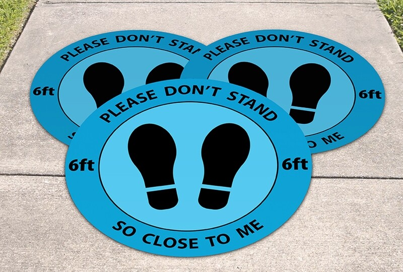Physical Distance Dots for Outdoors (Set of 3)