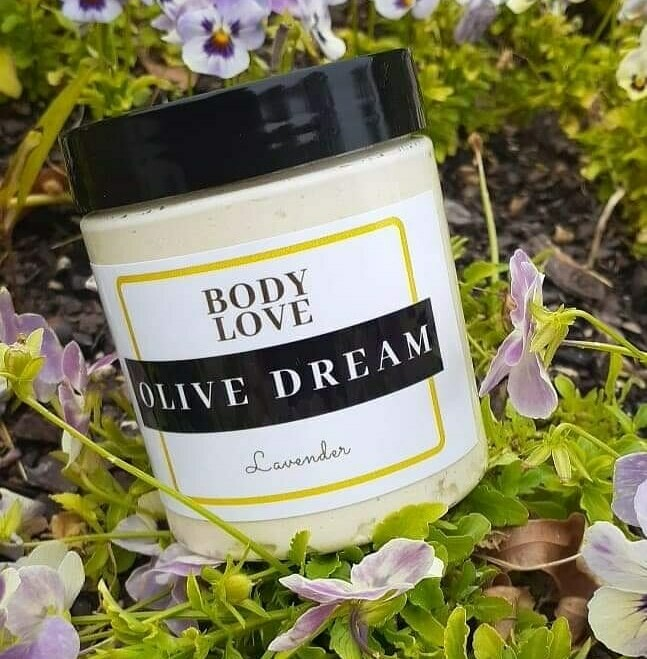 Olive Dream with Lavendar