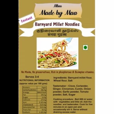 Barnyard Millet Noodles | Kuthiraivalli Noodles | Sanwa Noodles - 175g