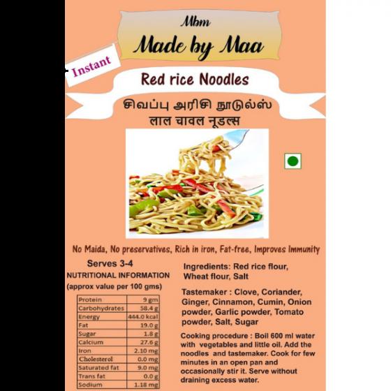 Red Rice Noodles | Sivapu Arisi Noodles | Lal Chaval Noodles - 175g
