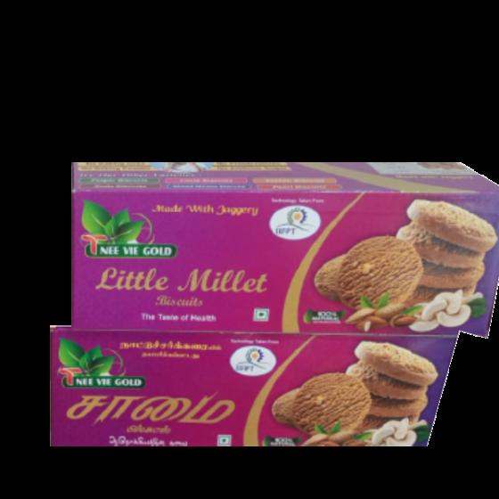 Little Millet Biscuit   Samai Biscuit   Kutaki Biscuit - 100g