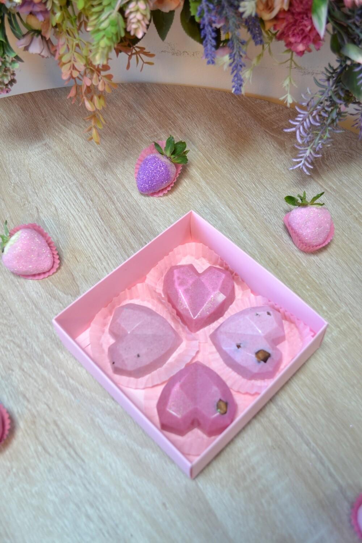 ბრჭყვიალა ფარდისფერი (4ც) | Sparkly Pink (4pcs)