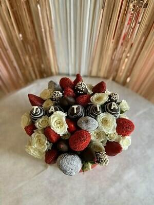 სახელობითი თაიგული ყვავილებით | Customized Bouquet with flowers