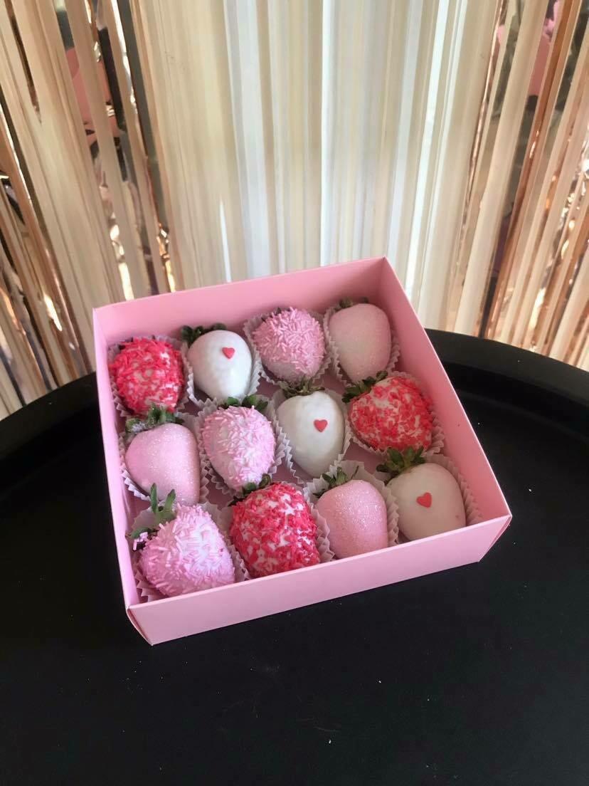 12-ცალიანი ნაკრები ვარდისფერი | Pack of 12 Strawberries Pink