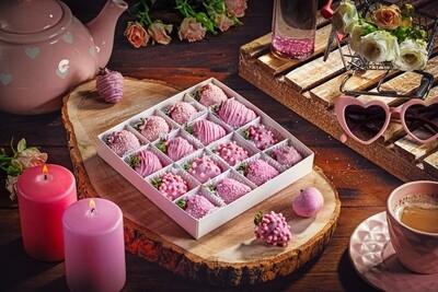 16-ცალიანი ნაკრები ვარდისფერი | Pack of 16 Strawberries Pink
