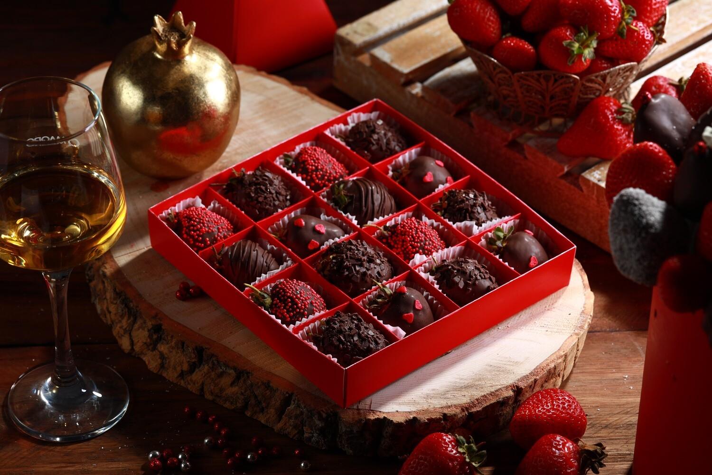 16-ცალიანი ნაკრები ყავისფერი | Pack of 16 Strawberries Brown