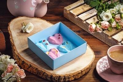 4-ცალიანი ნაკრები | Pack of 4 Chocolate Hearts