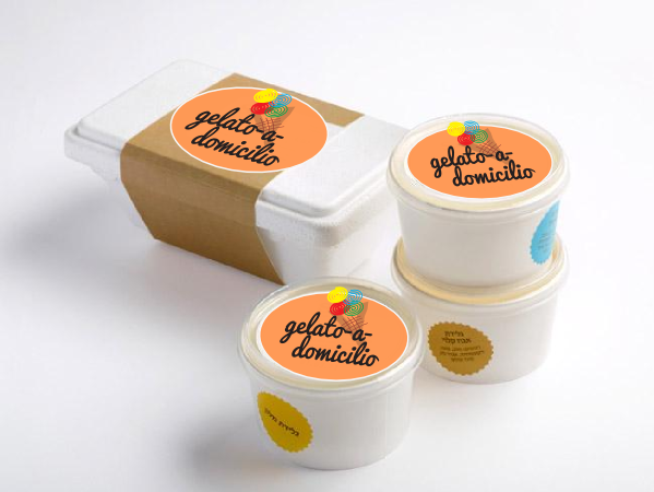 Vaschetta gelato artigianale media 12 palline