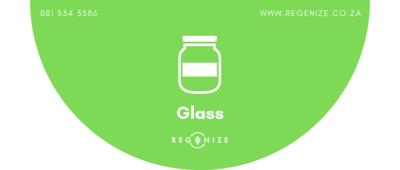 Recycling Bin Sticker - Glass