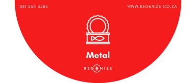 Recycling Bin Sticker - Metals