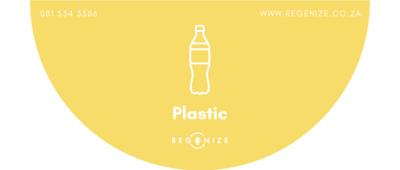 Recycling Bin Sticker - Plastic