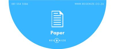 Recycling Bin Sticker - Paper