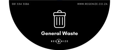 Recycling Bin Sticker - General Waste