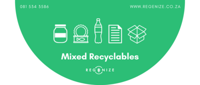 Recycling Bin Sticker - Mixed Recyclables