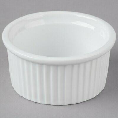 5 oz. Bright White Fluted China Ramekin
