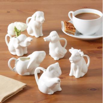 Animal Kingdom Porcelain Creamer - 6 Styles