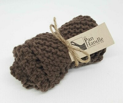 Brown Hand Knit Dish Cloth