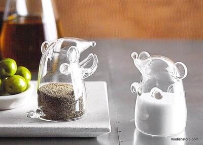 Roost Mouse Glass Salt & Pepper Shaker Set