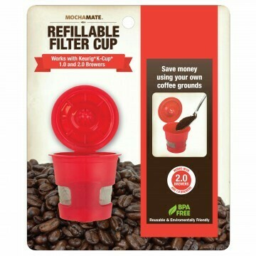 MochaMates Single Refillable Coffee Filter Cup - Keurig 2.0 Compatible