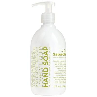Sapadilla Eco Rosemary + Peppermint Liquid Hand Soap 12 fl. oz.
