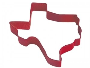 Red Texas Cookie Cutter 3.5