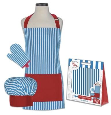 Handstand Kitchen™ Kid's Whimsy Stripes Chef Apron Set