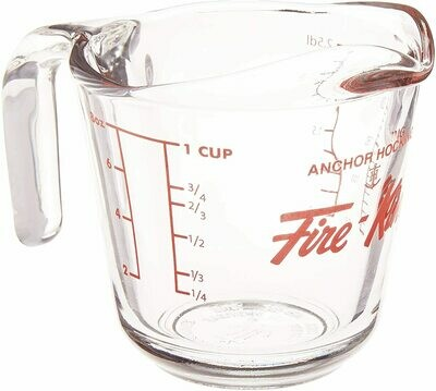Baked by Fire King 1-Cup Glass Measuring Cup