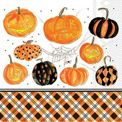 Plaid Pumpkins Lunch Napkins - 20 ct.