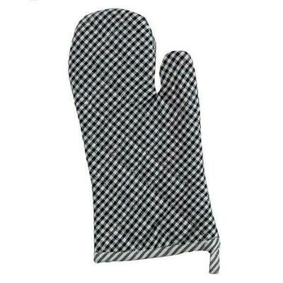 Black Chef Stripe Oven Mitt