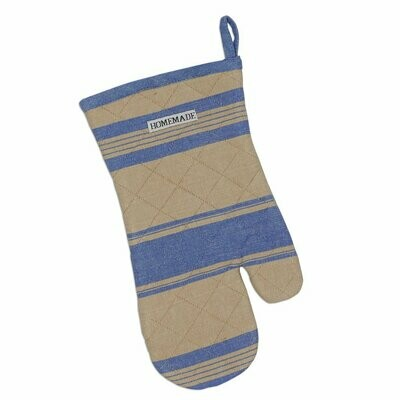 French Blue Stripe Oven Mitt