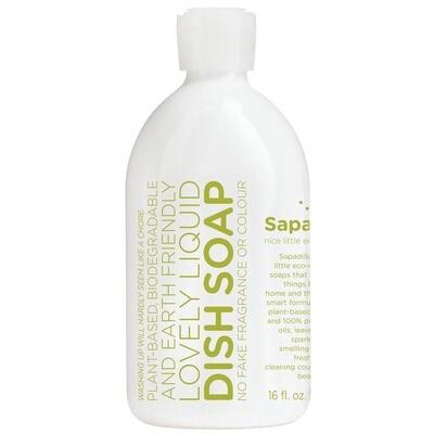 Sapadilla Eco Rosemary + Peppermint Liquid Dish Soap 16 fl. oz.