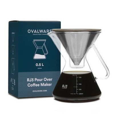 Ovalware RJ3 Pour Over Coffee Maker - 0.5 liter